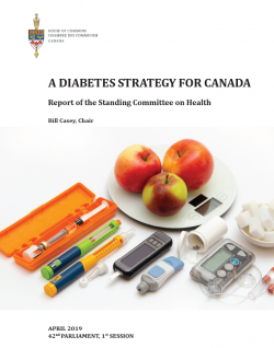 A Diabetes Strategy For Canada –                                   Recent report of the House of Commons Standing Committee on Health