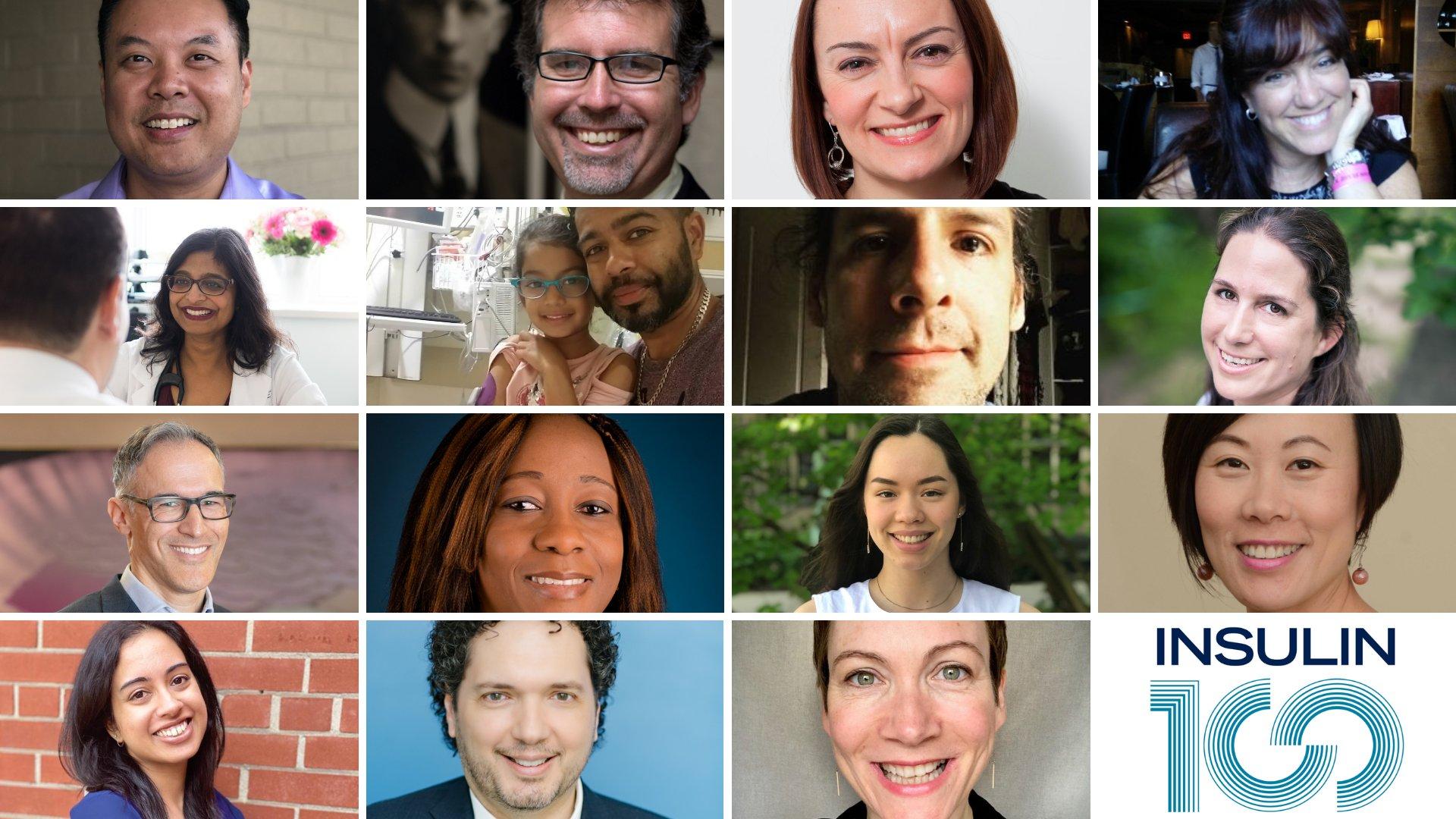 Collage des orateurs du 100e anniversaire de l'événement Découverte de l'insuline